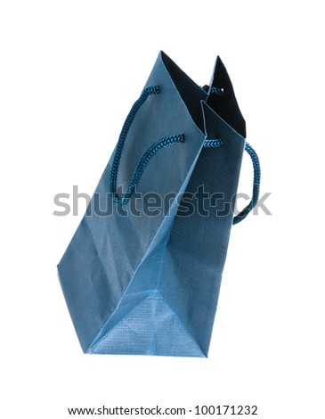 bag of gifts isolated on a white background. Studio photography ...