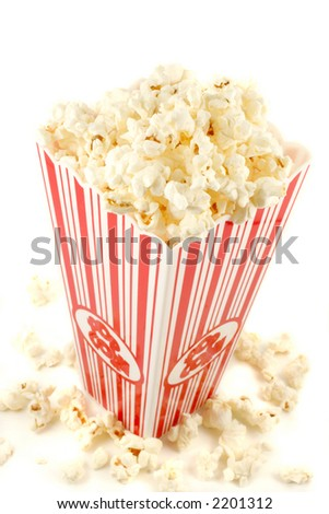 bag of warm  and delicious popcorn