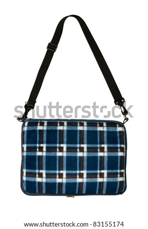 Bag plaid on a white background