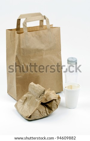 bag used for the lunch