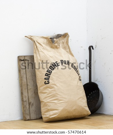Bag with coal