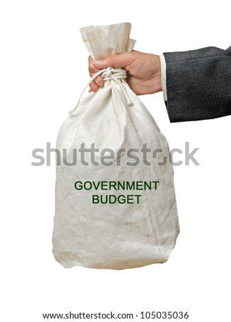 Bag with goverment budget