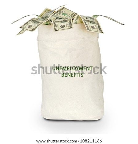 Bag with unemployment benefit