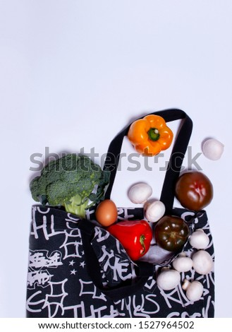bag with vegetables, bag with vegetables, raw vegetables