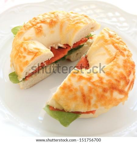 Bagel and salomon Sandwich