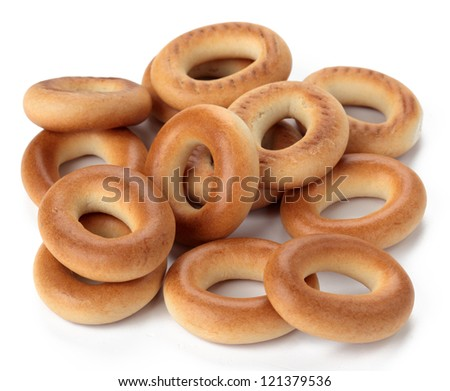 Bagel isolated on white background.