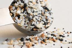 Bagel Seasoning Spilled from a Teaspoon