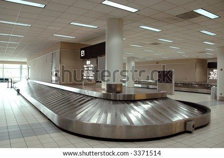 Baggage carousel at the airport