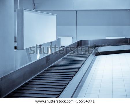 Baggage claim area, transporter belt High ISO!
