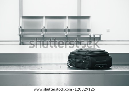 Baggage claim at the airport
