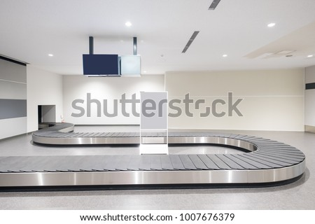 Baggage conveyor belt at the airport in the japan