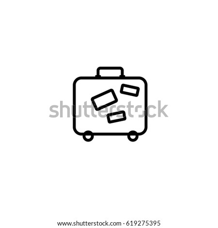 Baggage icon. Airport travel trip and tourism theme. Isolated design.  illustration