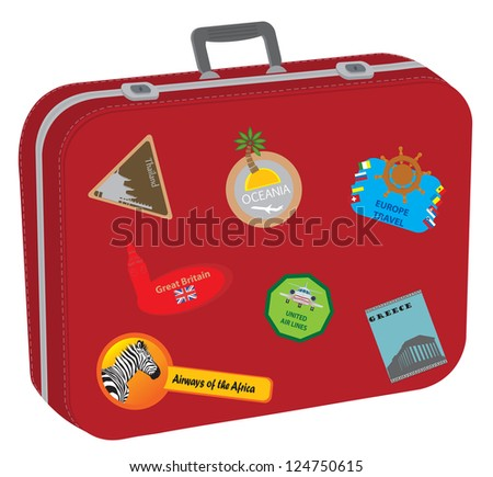 Baggage. Raster version. Vector in my portfolio
