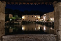 Bagno Vignoni in the evening