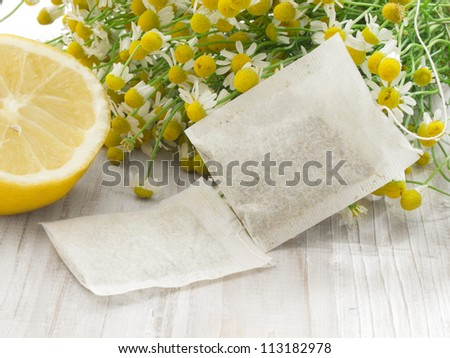 bags of chamomile tea