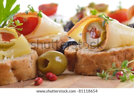 Baguette with choice of cheeses
