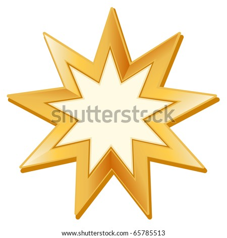 Nine Pointed Star http://www.shutterstock.com/pic-65785513/stock-photo-baha-i-symbol-golden-nine-pointed-star-symbol-of-the-baha-i-faith-on-a-white-background.html