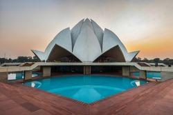Bahai House of Worship (Lotus temple) in Delhi, India