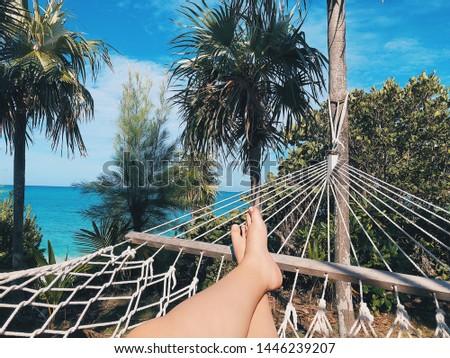 Bahama mama days chillen by the ocean Stockfoto ©