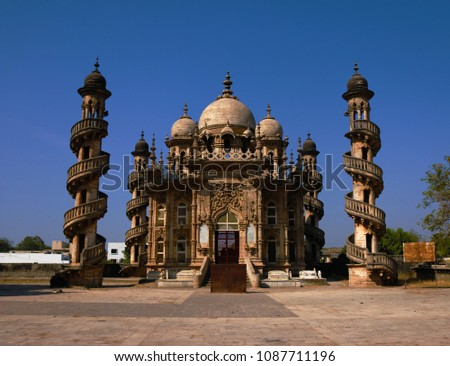 "Bahauddin Maqbara is a mausoleum owned by ""Bahaduddinbhai Husain Bhai"" (who had a short and catchy name), in the 1890s, he was the Wazir (minister/lord in Muslim countries) of Junagadh, Gujarat, India"