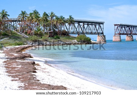 Bahia Bridge and Beach, Florida Keys.