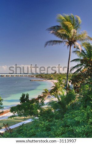 stock photo : bahia honda beach lagoon and park in florida keys