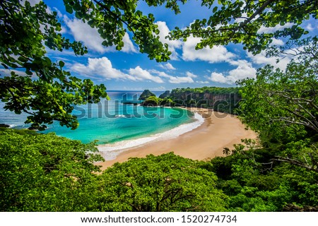 Baia do Sancho / Praia do Sancho, in Fernando de Noronha - Brazil.  Elected one of the most beautiful beaches in the world. Сток-фото ©