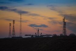 Baikonur Cosmodrome, Gagarins Start, Space sunrise on the launch pad
