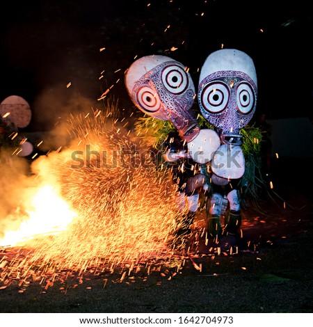 Baining Firework Dance, East New Britain, Rabaul, Papua New Guinea  Photo stock ©
