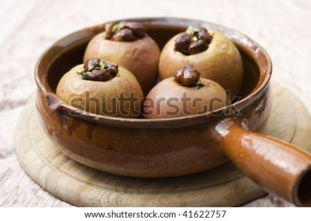 baked apples stuffed with raisins and nuts