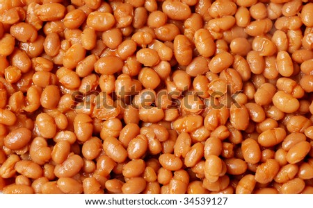 Baked beans background