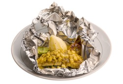 Baked catfish with potato