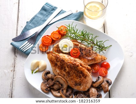 baked chicken breast. ready to eat #182316359