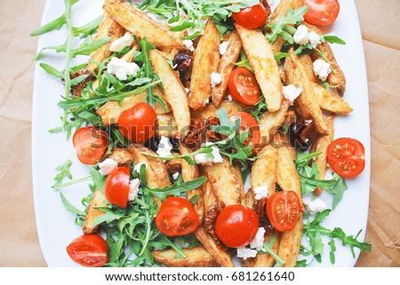 baked potato tomato salad Zdjęcia stock ©