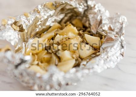 Baked potatoes #296764052