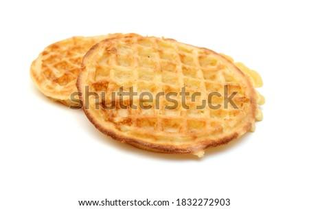 baked waffles on white background  Сток-фото ©