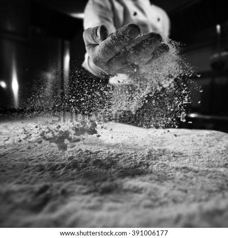 baker floured table