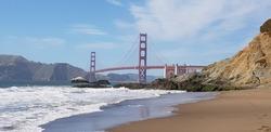 Bakers Beach, Golden Gate Bridge, San Francisco.