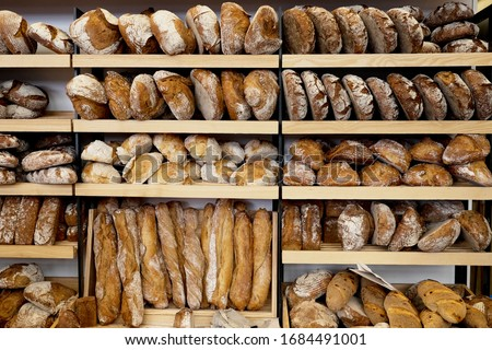 bakery brown breads to sell  Stockfoto ©