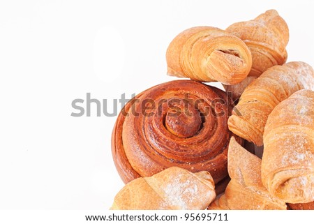 Bakery foodstuffs assortment