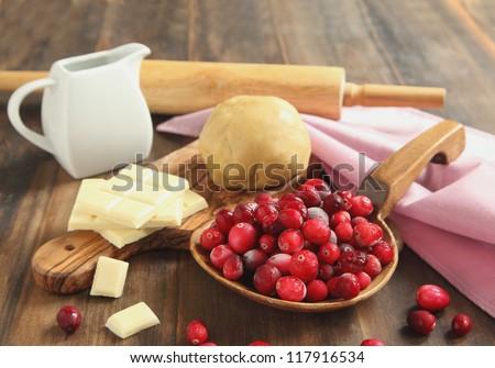 Baking a Cranberry Chocolate Tart