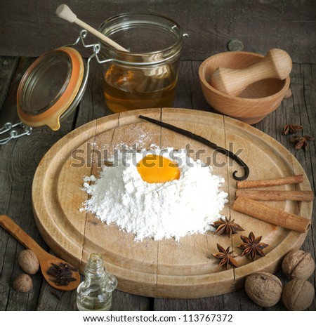 Baking and components with exotic aromatic spices