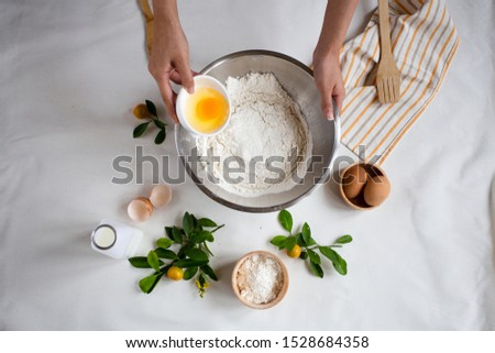 baking background. Ingredients for Crepe