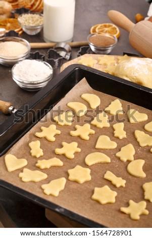 Baking cookies, baking tray and baking utensils #1564728901