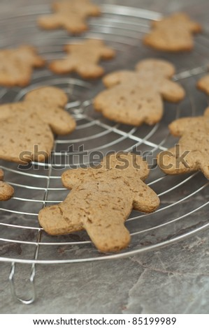 Baking gingerbread man