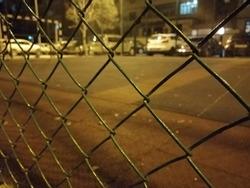 Baku, Azerbaijan. Night after football.