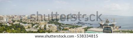 Baku skyline panorama, capital of Azerbaijan