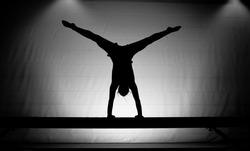 balance beam silhouette cartwheel