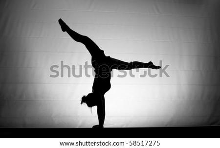 balance beam silhouette handstand