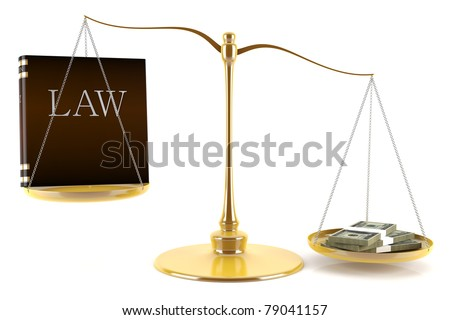 Balance between law and money